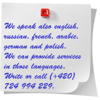 We speak english, russian, french, arabic, german and polish